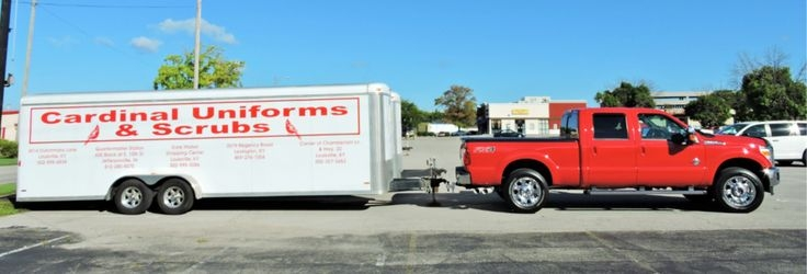Cardinal Uniforms Truck and Trailer